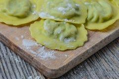 Spinach Ravioli Stock Photos