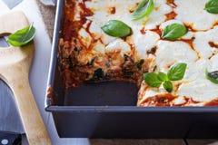 Spinach, ricotta and bacon lasagna Royalty Free Stock Image