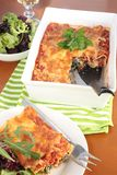 Spinach and ricotta cannelloni Stock Photography