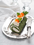 Spinach roll Royalty Free Stock Photography