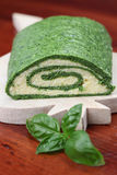 Spinach roll with eggs and cheese Stock Image