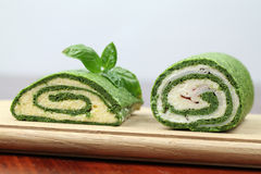 Spinach rolls Royalty Free Stock Images