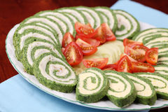Spinach rolls Royalty Free Stock Photos
