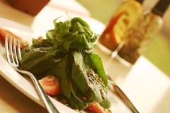 Spinach Salad. Shallow DOF stock image