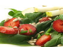 Spinach salad Royalty Free Stock Photo