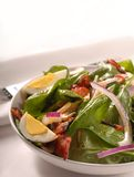 Spinach salad with bacon Stock Image