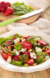Spinach salad. Royalty Free Stock Photography
