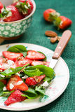 Spinach salad with strawberries Royalty Free Stock Image