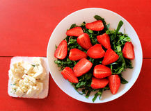 Spinach salad with strawberries Stock Images