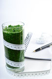 Spinach smoothie. Diet and detox. Royalty Free Stock Photos