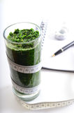 Spinach smoothie. Diet and detox. Stock Image