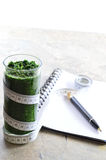 Spinach smoothie. Diet and detox. Royalty Free Stock Image