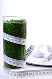 Spinach smoothie. Diet and detox. Stock Photography