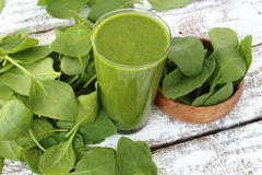 Spinach smoothie Stock Photos