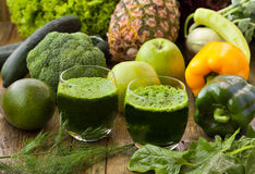 Spinach smoothies royalty free stock photo