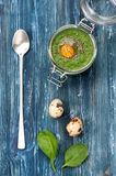 Spinach smoothies Stock Images