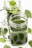 Spinach smoothy royalty free stock photography