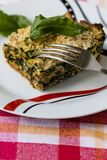 Spinach souffle Royalty Free Stock Photos