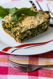 Spinach souffle Royalty Free Stock Images