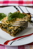 Spinach souffle Stock Images