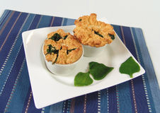 Spinach soufle Royalty Free Stock Photo