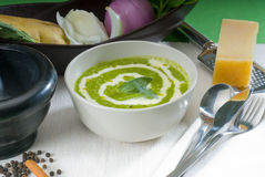 Spinach soup Royalty Free Stock Photos