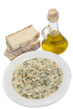 Spinach soup Stock Images