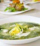 Spinach soup Royalty Free Stock Photography