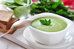 Spinach soup Royalty Free Stock Images