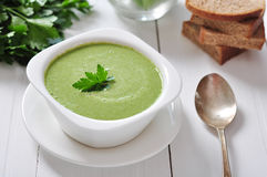 Spinach soup Stock Photography