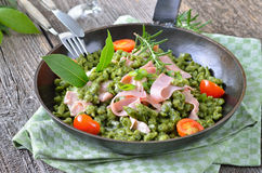 Spinach spaetzle Royalty Free Stock Images