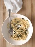 Spinach spaghetti pasta Stock Photos