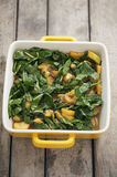 Spinach and Squash Casserole Stock Photo