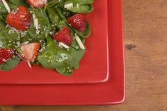 Spinach Strawberry Salad Stock Photography