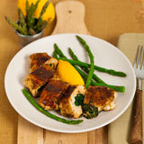 Spinach Stuffed Chicken Royalty Free Stock Image