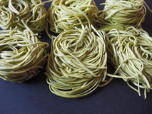 Spinach tagliatelle Royalty Free Stock Photo