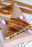 Spinach tart Stock Photography