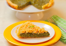 Spinach tart Stock Image