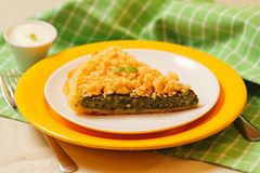 Spinach tart Royalty Free Stock Photography