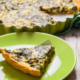 Spinach Tart Royalty Free Stock Images