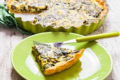 Spinach Tart Royalty Free Stock Image