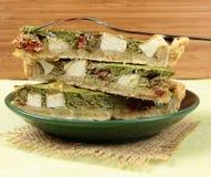 Spinach tart Stock Photos