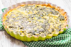 Spinach Tart Stock Images