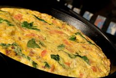Spinach And Tomato Fritatta Stock Images