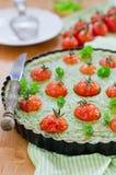 Spinach-Tomato guiche Stock Photography