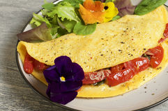 Spinach and Tomato omelette. Food & Dishes for Restaurants, Cuisine of the peoples of the world, Healthy Recipes Stock Photography