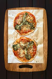 Spinach and Tomato Pizza Royalty Free Stock Photo