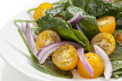 Spinach and Tomato Salad Royalty Free Stock Photo