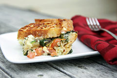 Spinach and Tomato Strata Stock Photos