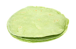 Spinach Tortillas Side View Stock Images
